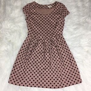 Maison Jules Size Medium A Line Polka Dot Dress
